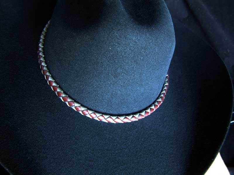 Russet and Gray Hatband