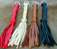Deer leather braid w/ tassels