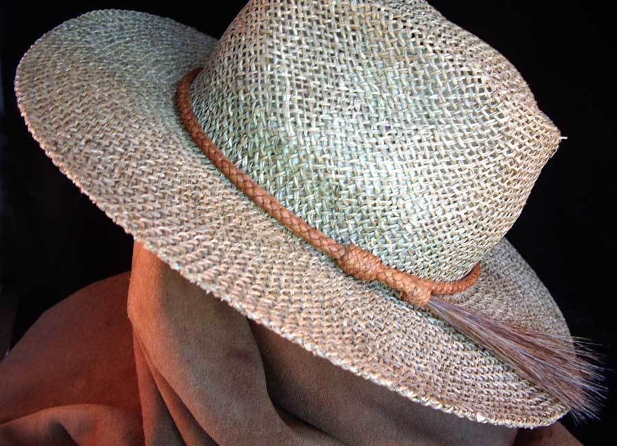 Herringbone ridge hatband